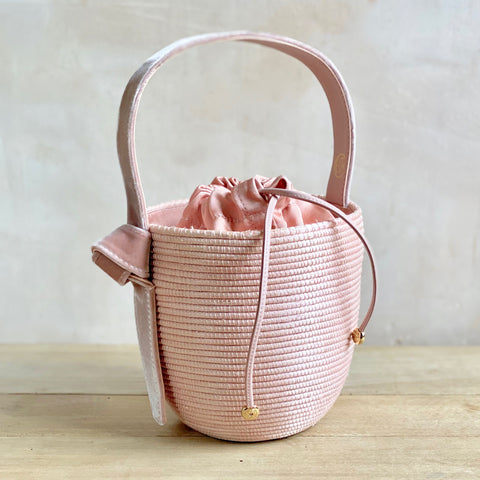 Sisal and Velvet Basket Bag
