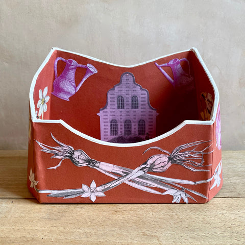 "Baroque Letter Holder, ""Tete-a-Tete"" (Barn Red)"