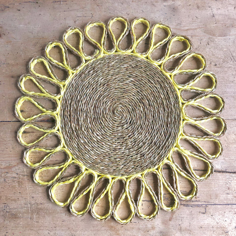 Looped Sisal Placemats (Yellow)