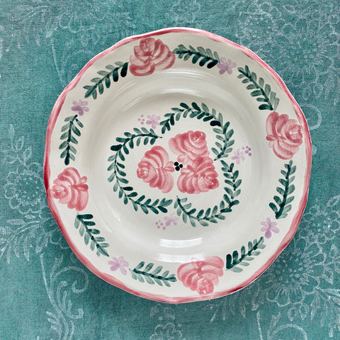 Pair of Hand Painted Ceramic Dinner Plates