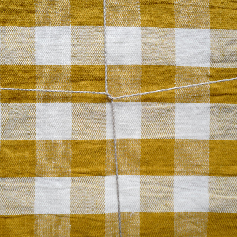 Checkerboard Tablecloth (Ochre)