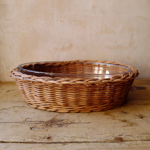 Braided Rattan Casserole Dish (Oval, Small)