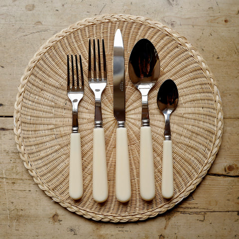 Classic Ivory Cutlery, 5 Piece Set