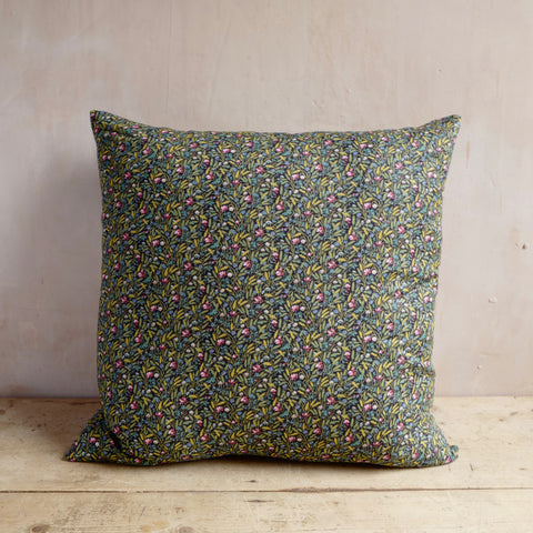 Cushion, c1970's Printed Floral Cotton