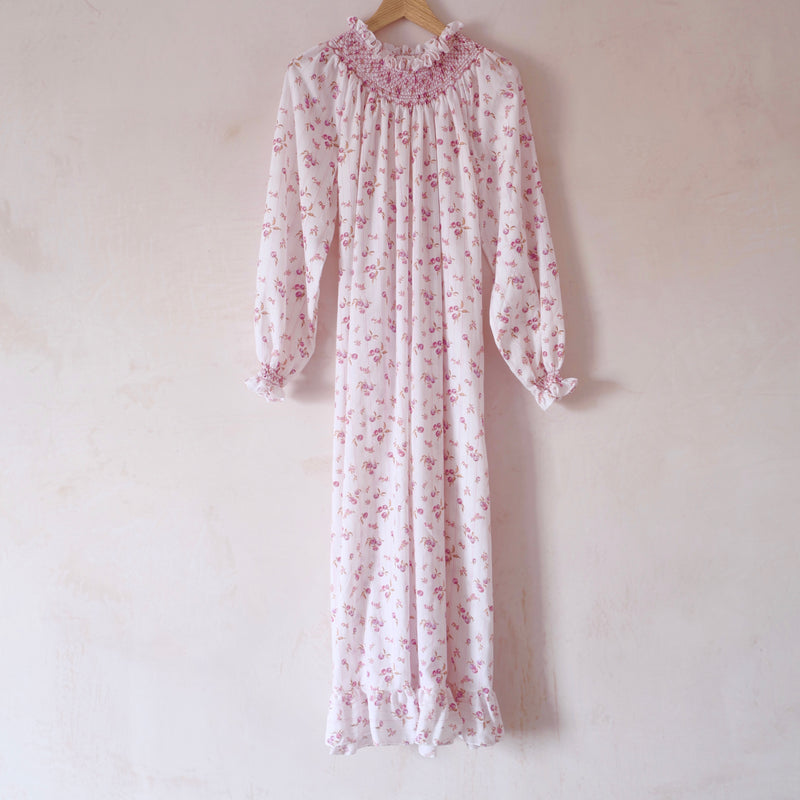 Hand-Smocked Long Sleeve Nightgown