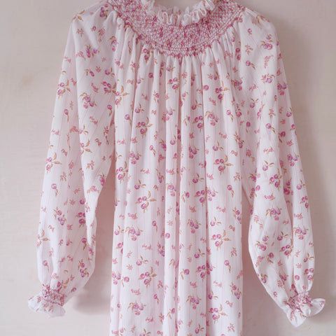 Hand-Smocked Nightgown, Long Sleeve