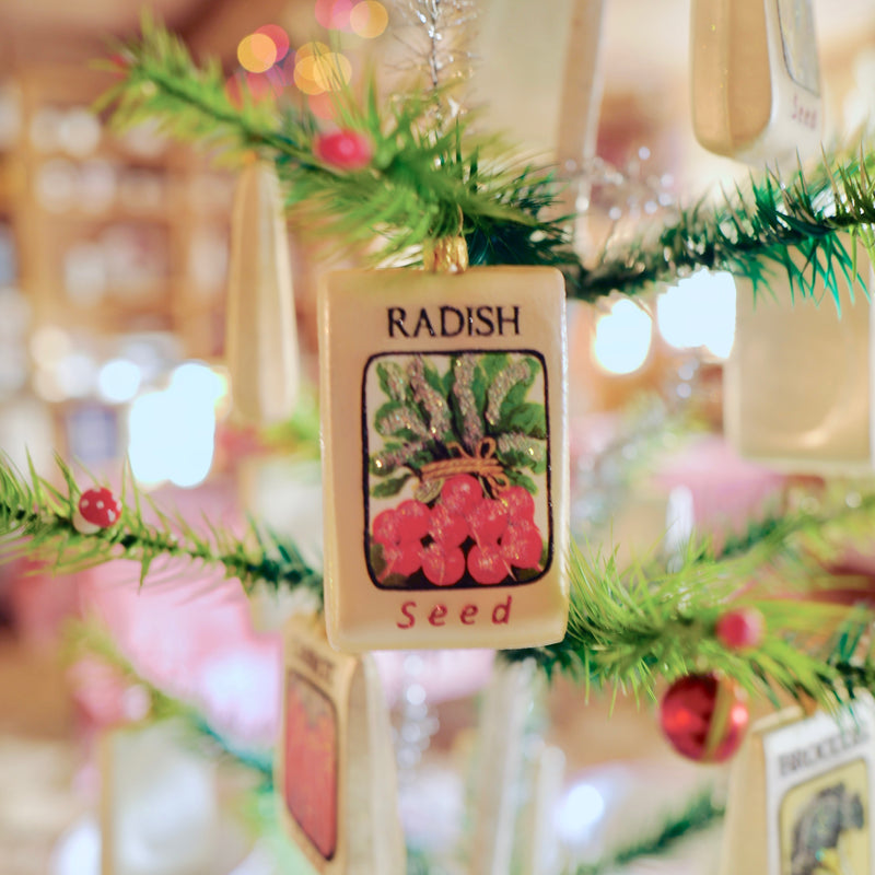 Radish Seed Packet Ornament