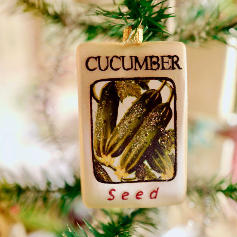 Cucumber Seed Packet Ornament