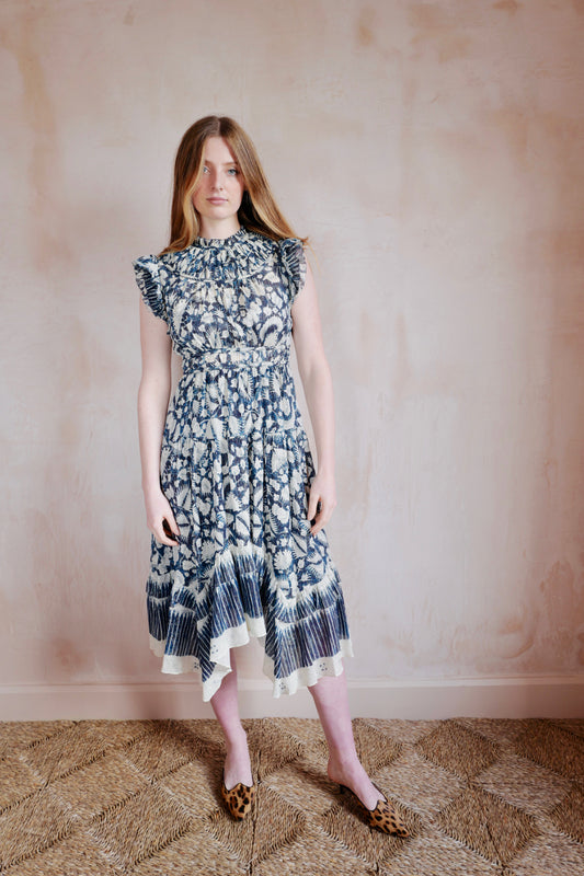 Amalia Cotton & Silk Dress