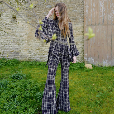 Stockard Check Trousers