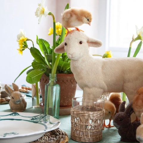Glitter Lamb Decorations