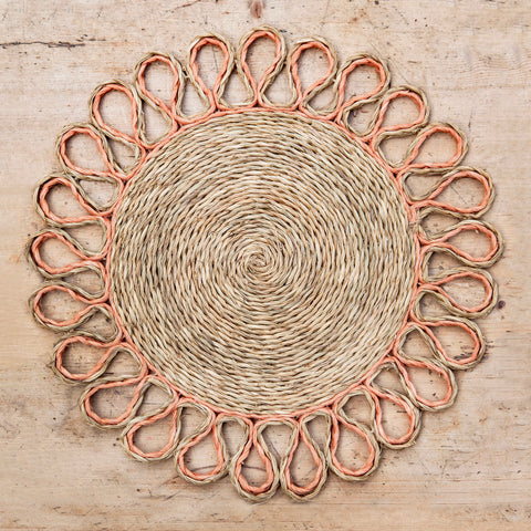 Looped Sisal Placemats (Blush)