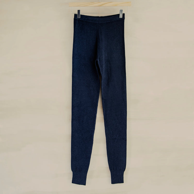 Yoga Legging, Cotton & Cashmere (Dark Navy)