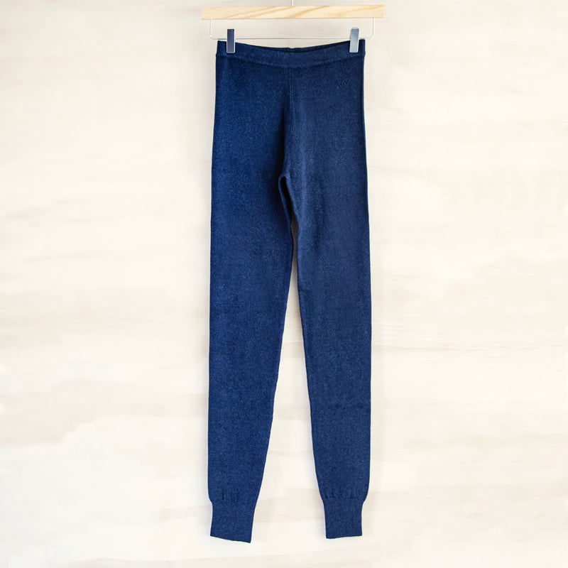 Yoga Legging, Cotton & Cashmere (Marine Blue)