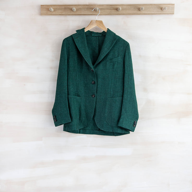 Esther Blazer, Linen Canvas (Dark Green)