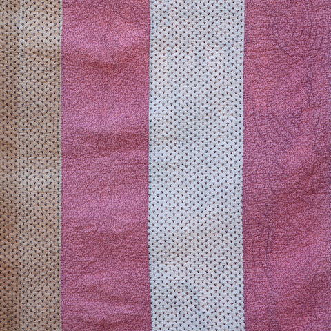 North Country Striped Quilt, Circa 1870/1880, English