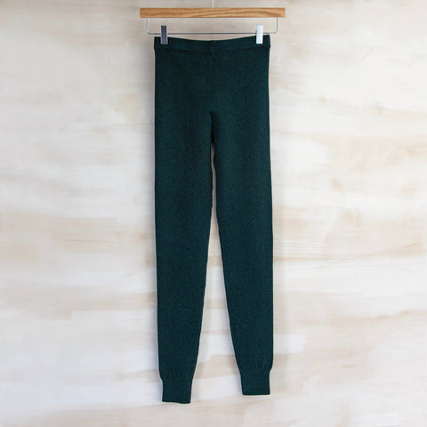 Yoga Legging, Cotton & Cashmere (Hunter Green)