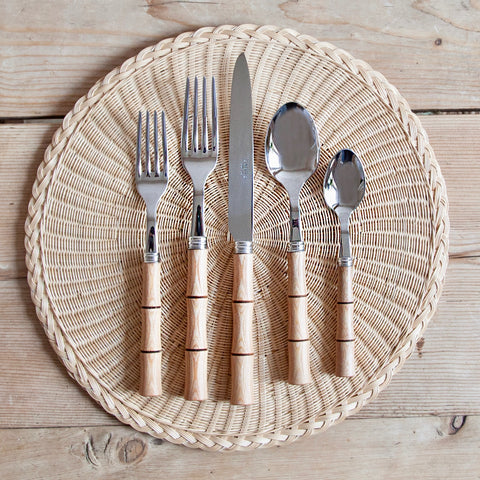 Modern Wood Bamboo Cutlery Set, 5 pieces