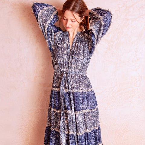 Anzu Dress, Indigo