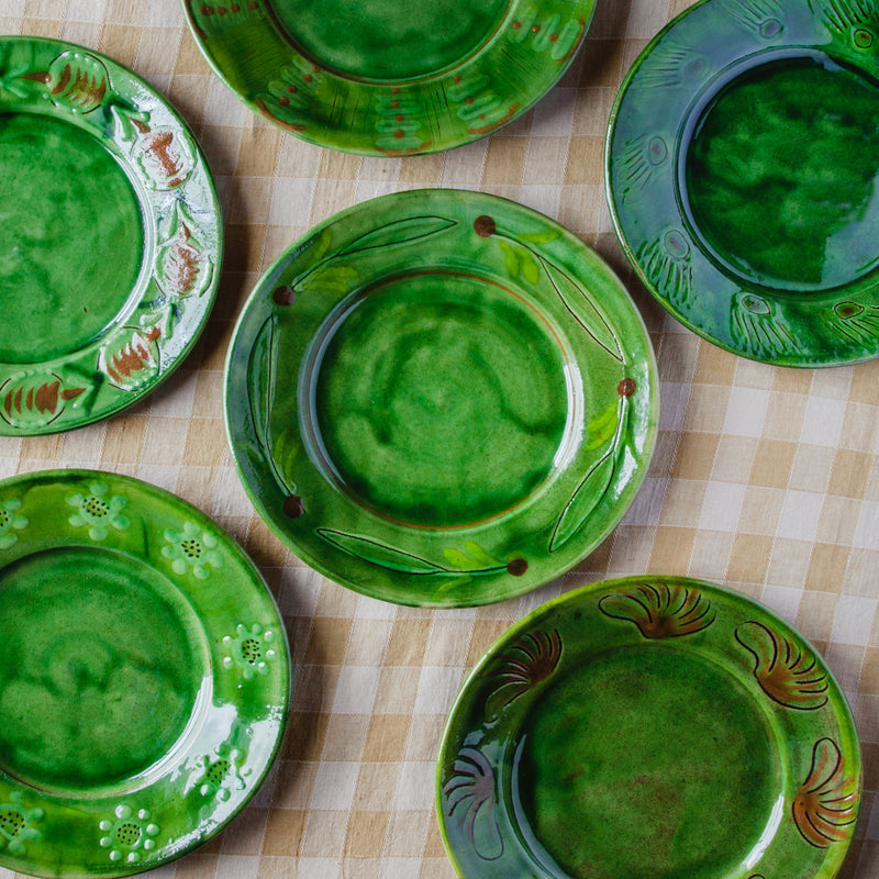 Hand-Painted Terracotta Dinner Plates