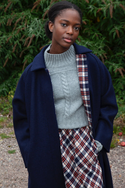 Tartan Check Wool Skirt