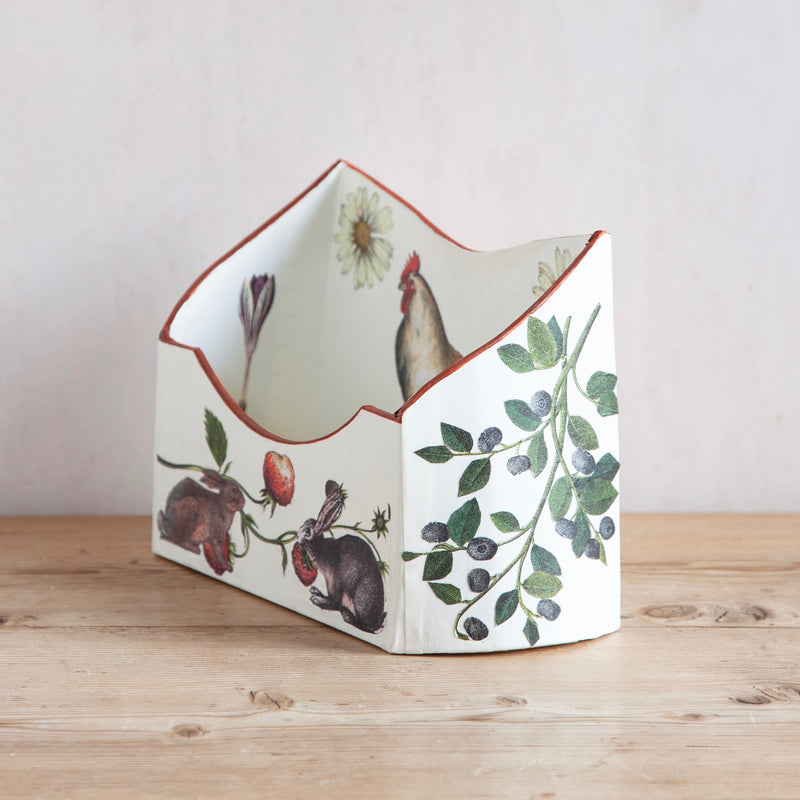 "Baroque Letter Holder, ""William Morris Rabbit"""
