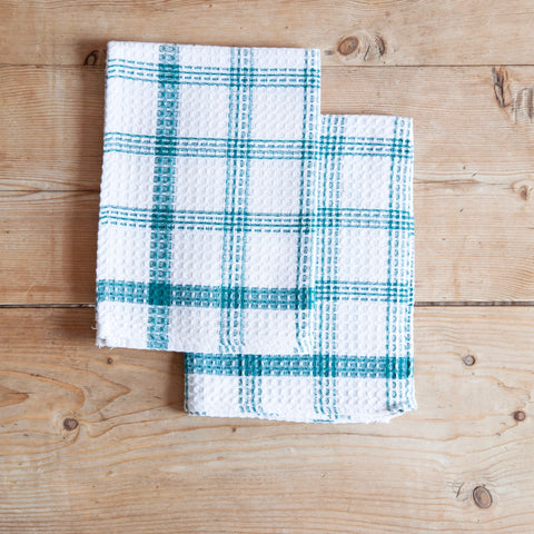 Pair of Vintage Cotton Checked Tea Towels