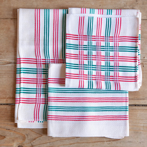 Vintage Checked Napkins, Set of 6