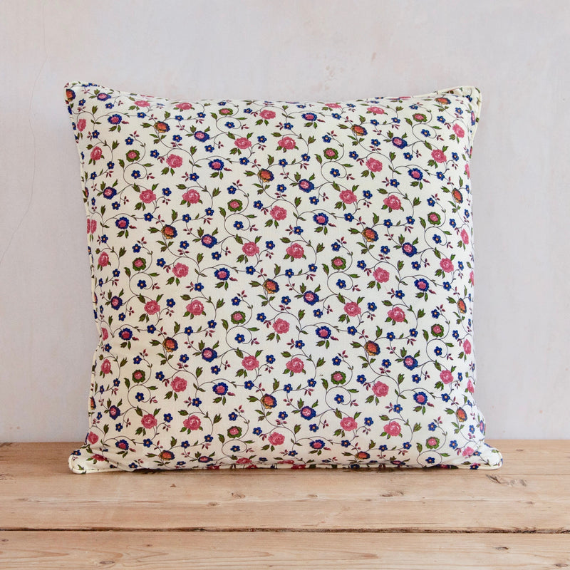 Cushion made from Vintage French Floral Cotton