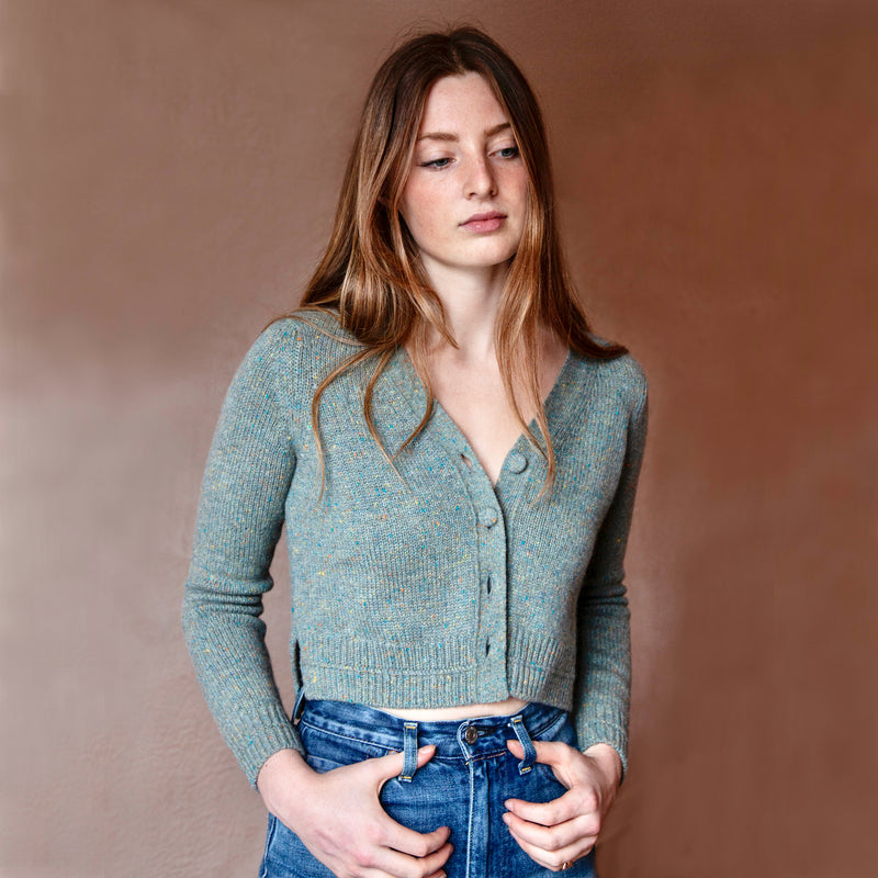 Therese Cropped Cashmere Cardigan