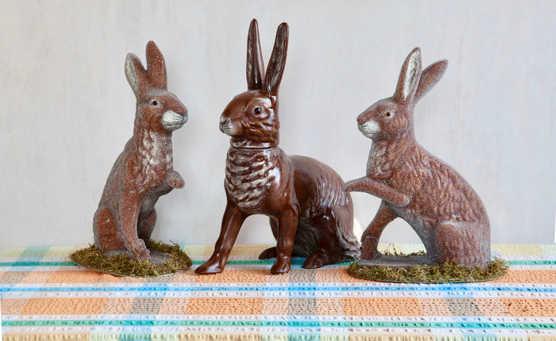 Handmade Papier-Mâché Rabbit Table Decoration