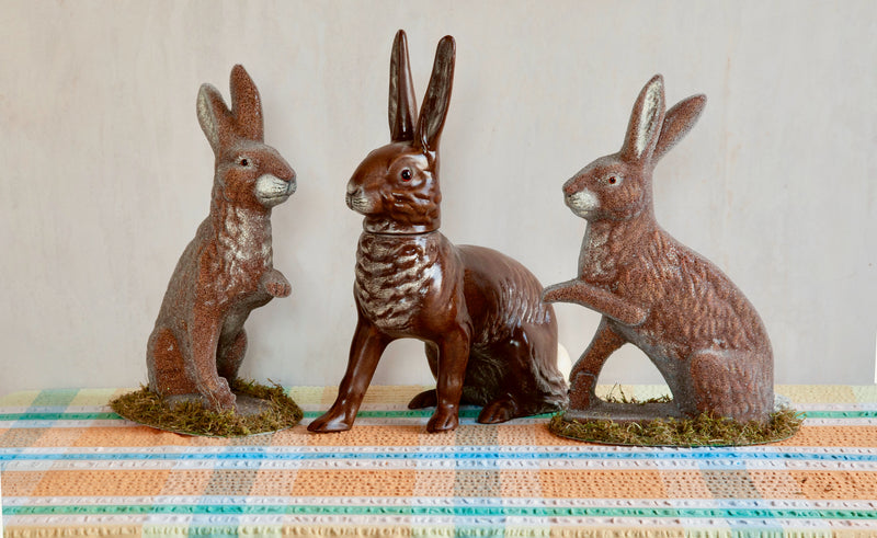 "Handmade Papier-Mâché Rabbit Candy ""Box"""