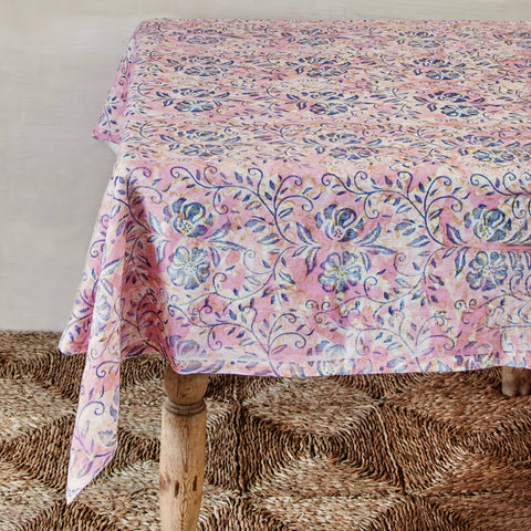 Hand-Painted Linen Tablecloth
