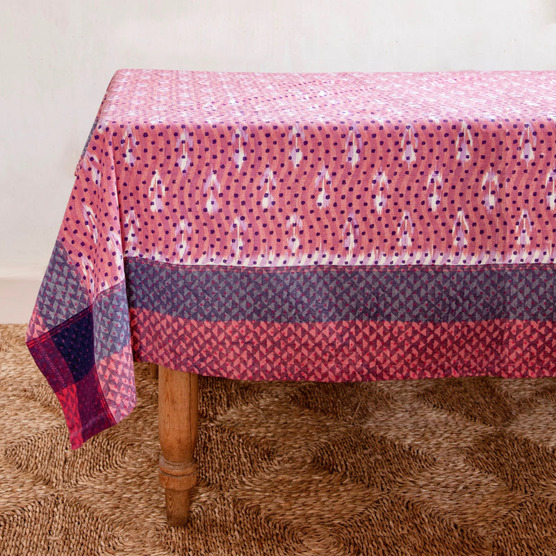 Dusted Rose Wave Tablecloth