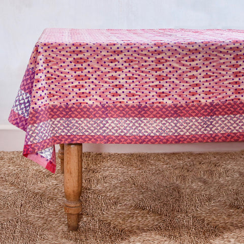 Rhubarb Rose Spot Tablecloth