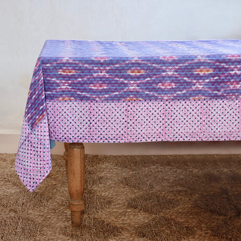 Raspberry Violet Zig Zag Tablecloth
