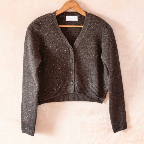 Therese Cropped Cardigan, Black