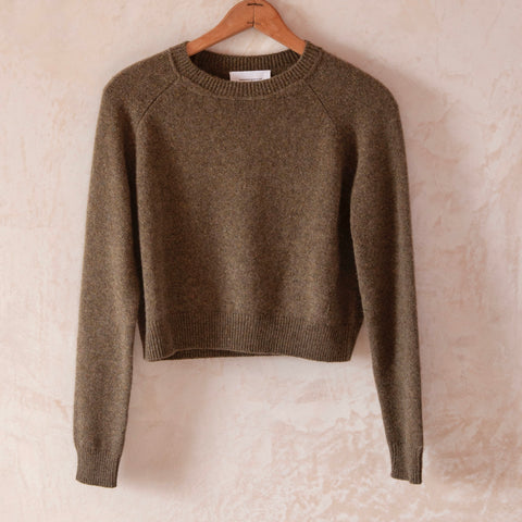 Mini Mila Cashmere Sweater, Kaki