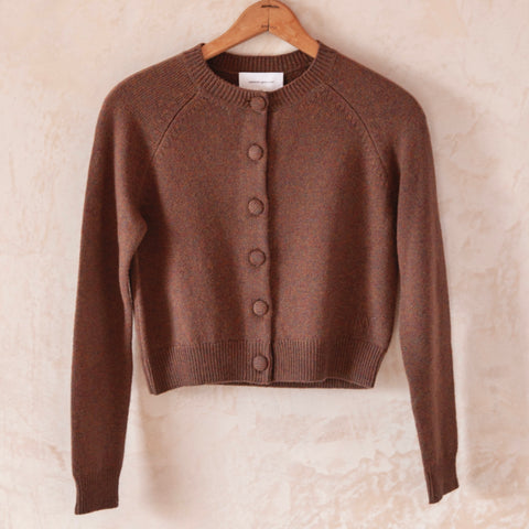 Mila Cashmere Cardigan, Brown