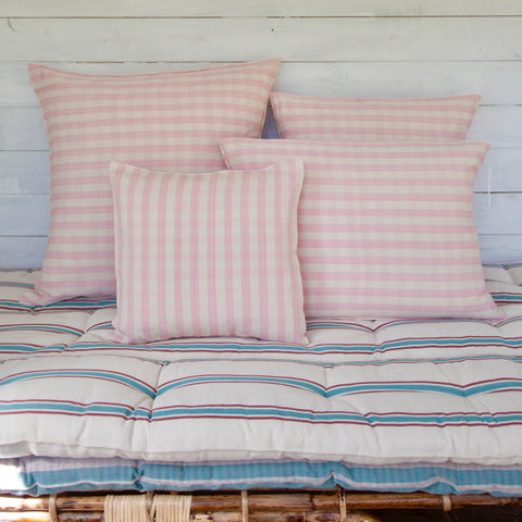 Cotton Cushion Cover (pink gingham)