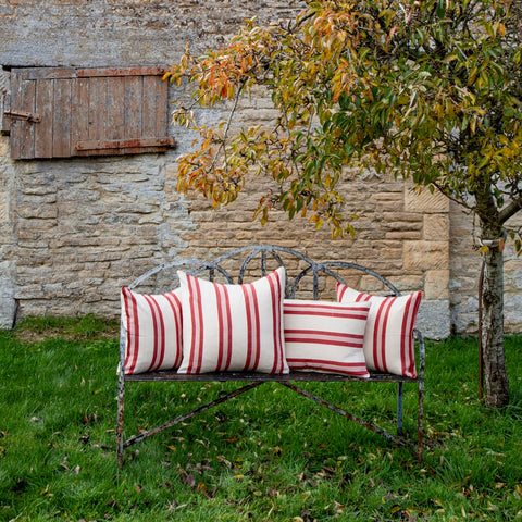 Cotton Cushion Cover (red/white)