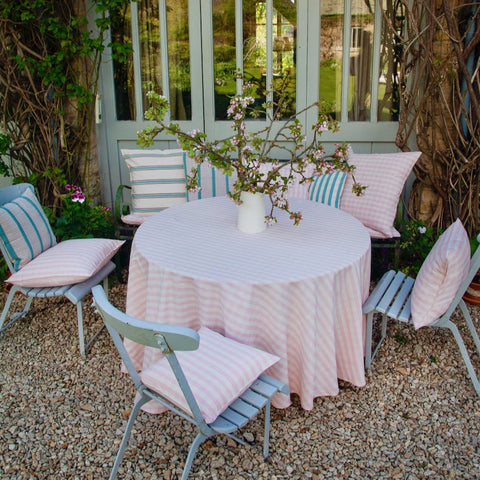 Cotton Tablecloth (pink gingham)