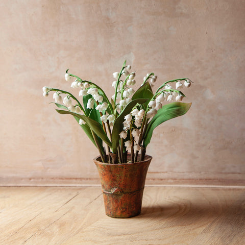 Lily of the Valley Flower Sculpture (Potted)