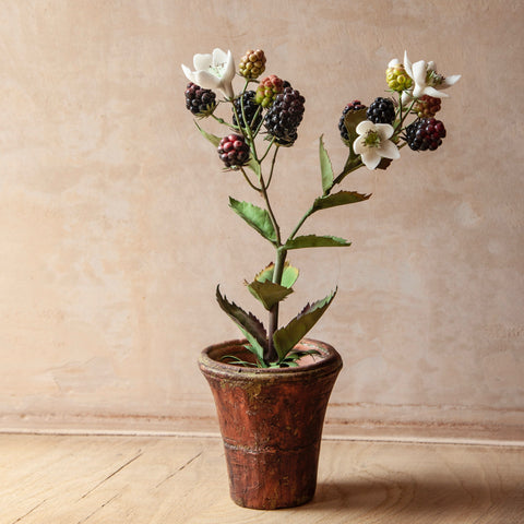 Small Blackberry Flower Sculpture