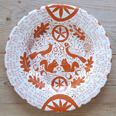 """Rilke Book of Hours"", Large Plate"
