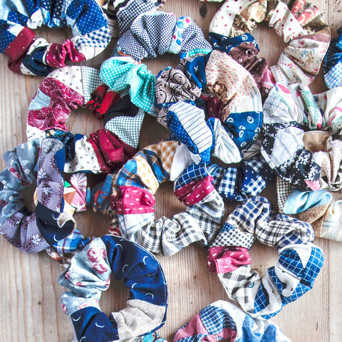 Patchwork Quilt Cotton Scrunchies