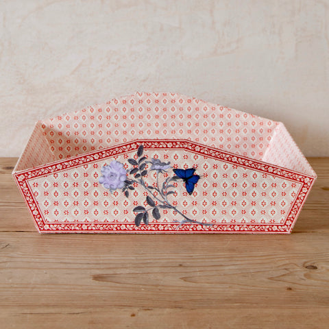 Lavender Rose Decoupage In-box Tray with Lid
