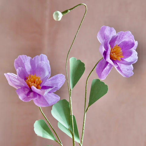Japanese Anemone Paper Flower Stems