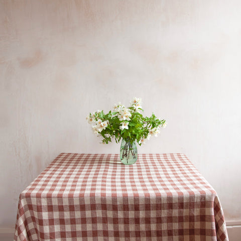 Vintage Checkerboard Tablecloth, Litchi