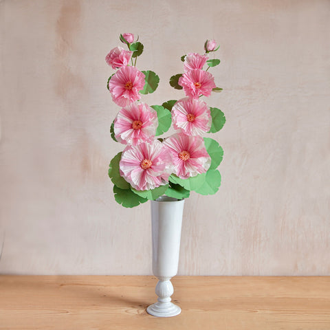 Hollyhock Paper Flower Stems